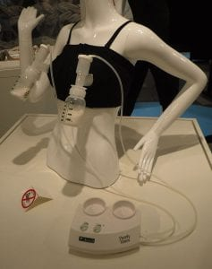 Breast pump display