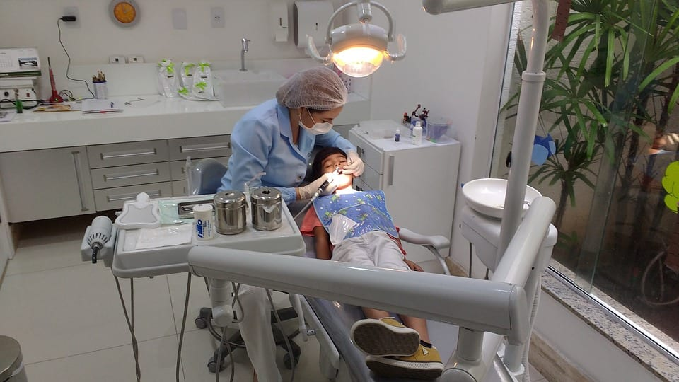 Child in a dental office