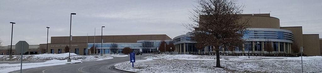 Entrance to Blue Valley North High School