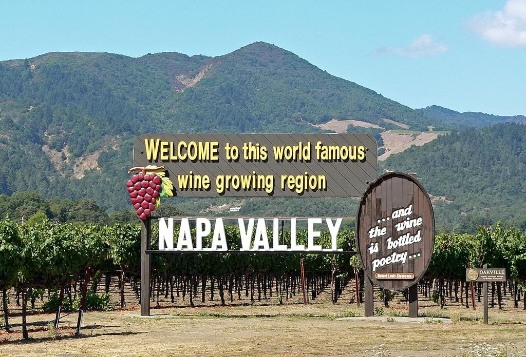 Napa Valley Welcome Sign