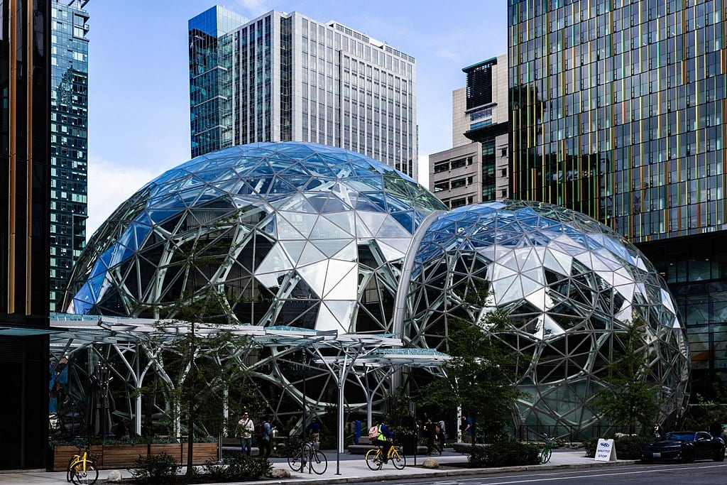 The Amazon Spheres, part of the Amazon headquarters campus in Seattle