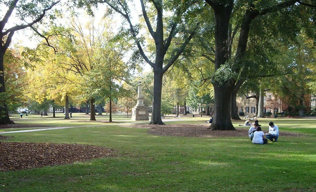 The University of South Carolina's historic Horseshoe
