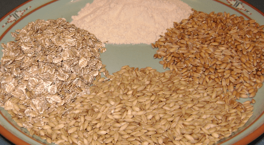 Examples of sources of gluten, high-gluten wheat flour, European spelt, barley, rolled rye flakes