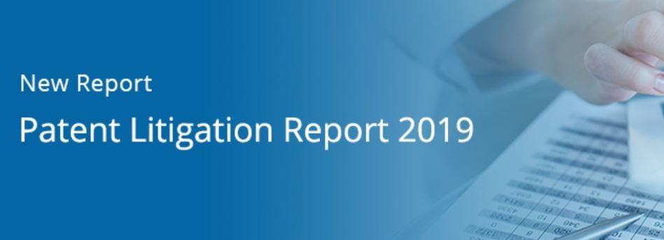 Lex Machina Patent Litigation Report header; image courtesy of Lex Machina.