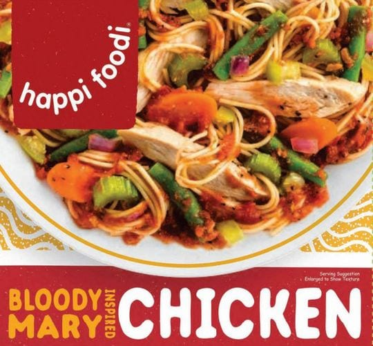 Recalled happi foodi Bloody Mary Inspired Chicken