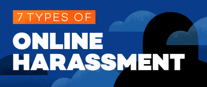 & Types of Online Harassment; image courtesy of author.