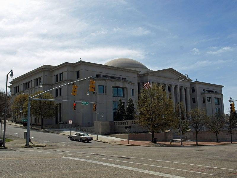 The Heflin Torbert Judicial Building in Montgomery. It houses the Supreme Court of Alabama
