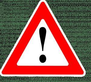 Warning Sign; image courtesy of Clker-Free-Vector-Images via Pixabay, www.pixabay.com