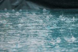 Raindrops; image by Inge Maria, via Unsplash.com.