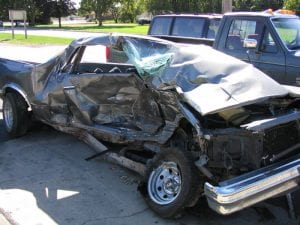 Example of a t-bone accident; image by en:user:Dori, via wikimedia.com, public domain.