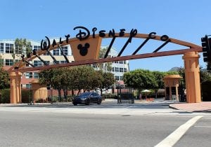 The Alameda Avenue entrance to the Walt Disney Studios in Burbank, California