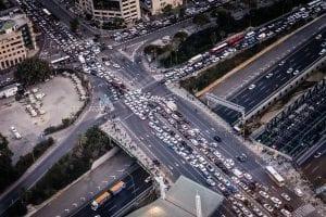 Traffic jam; image by Jens Herrndorff, via unsplash.com.