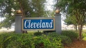 Cleveland, Mississippi welcome sign
