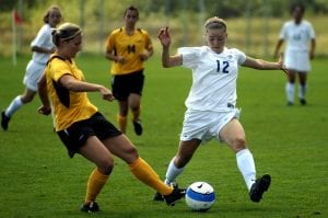 Girl soccer players