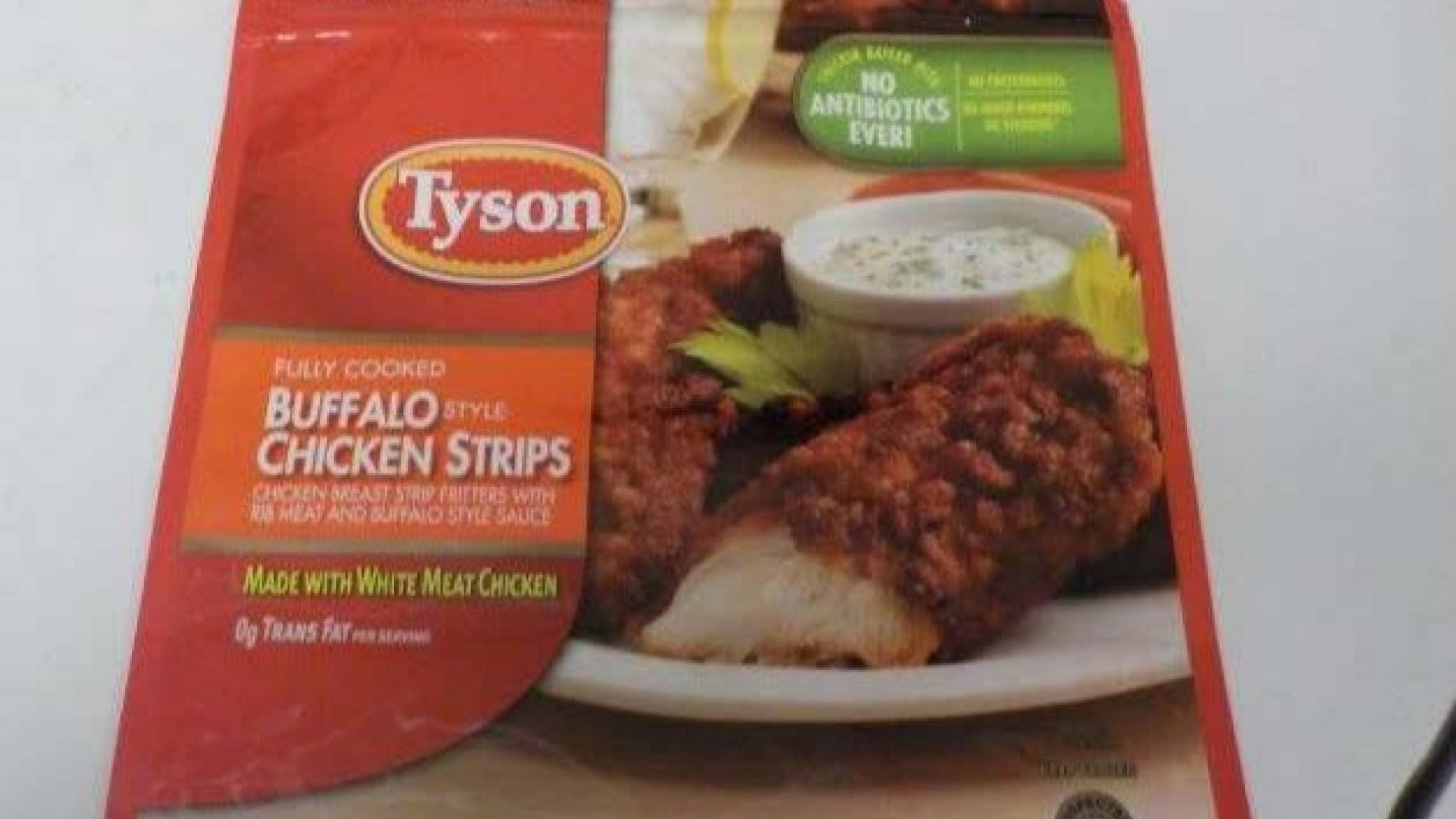 One of the recalled Tyson Chicken Strip products