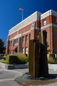 The Clackamas County Courthouse in Oregon City