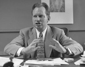 L. Ron Hubbard, founder of the Church of Scientology