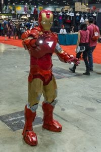 Iron Man suit Mark VI from Iron Man 2 at a Convention