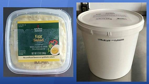 Recalled Egg Salad