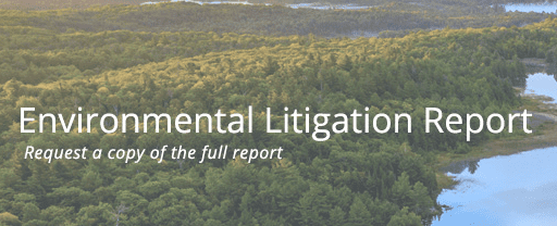 2019 Environmental Litigation Report; image courtesy of Lex Machina.