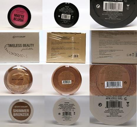 Recalled Cosmetics