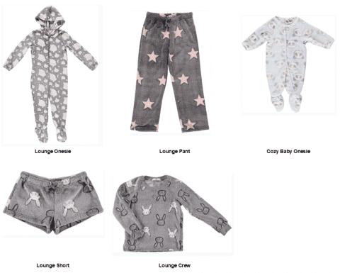 Recalled Ragdoll & Rockets pajamas