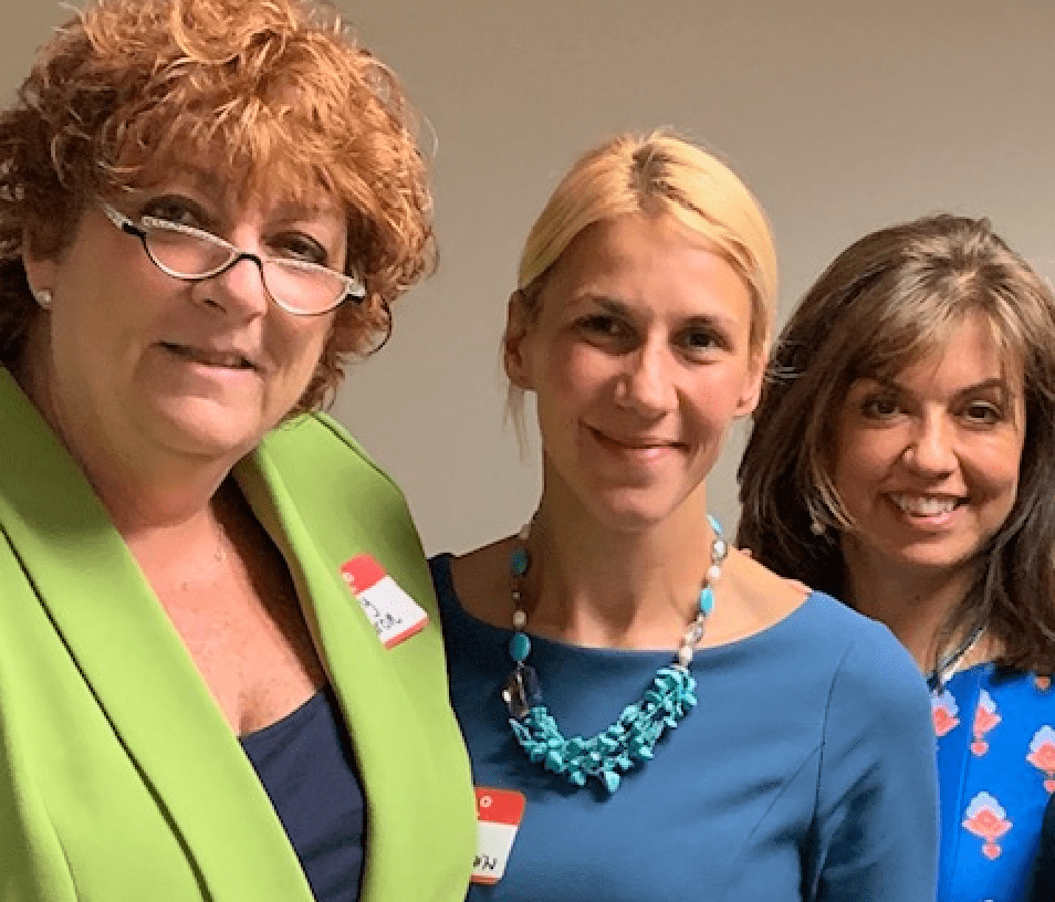 From Left: Jody Aaron, McKeen & Association attorney and MAJ Women's Caucus president; Marija Kuljanin, McKeen & Associates paralegal; and Honorable Patricia Fresard. Image courtesy McKeen & Associates.