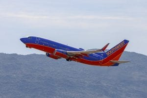 A Southwest 737-700 taking off