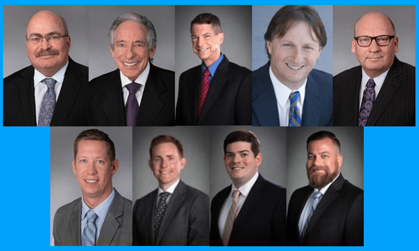 Top left to right: McKeen, Rosen, Dawes, Tirella & Counsman; bottom left to right: Kay, Lee, Malone & Proulx. Image courtesy McKeen & Associates.