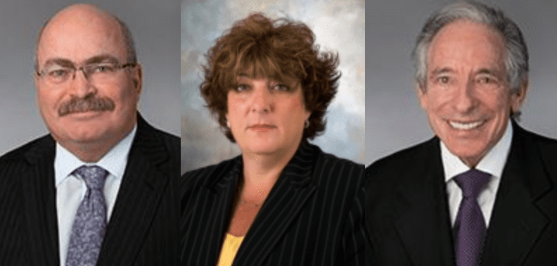 L-R: Brian McKeen, Jody Aaron & Norman Rosen; image courtesy McKeen & Associates.