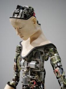 Humanoid robot; image by Franck V., via Unsplash.com.