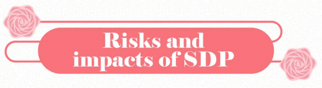 Risks and Impacts of SDP; graphic courtesy of ChildMode.