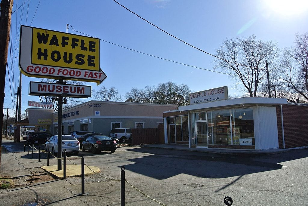 The first Waffle House in Avondale Estates, Georgia