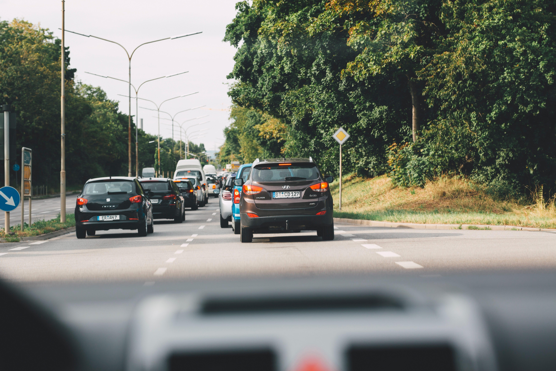 Cars on road; image by Markus Spiske, via Unsplash.com.