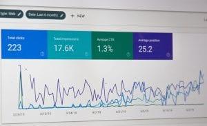 Website analytics results; image by webaroo.com.au, via Unsplash.com.