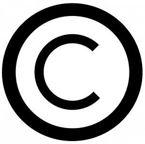 Copyright symbol; graphic by David Wees, via Flickr, CC BY 2.0, no changes.