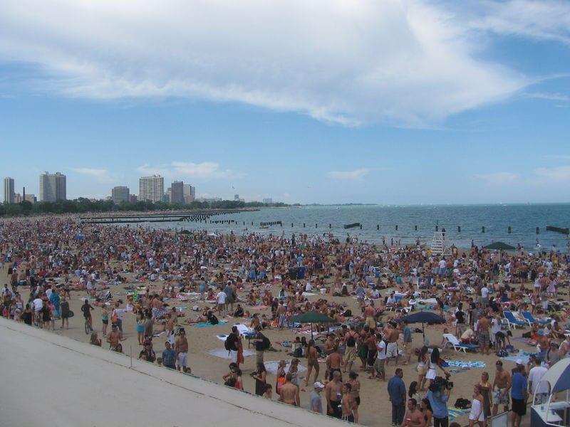 A Lake Michigan Beach
