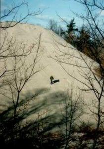 Sand dune on Lake Michigan at Indiana Dunes National Park