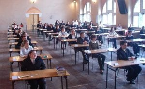 Students sitting for a standardized test