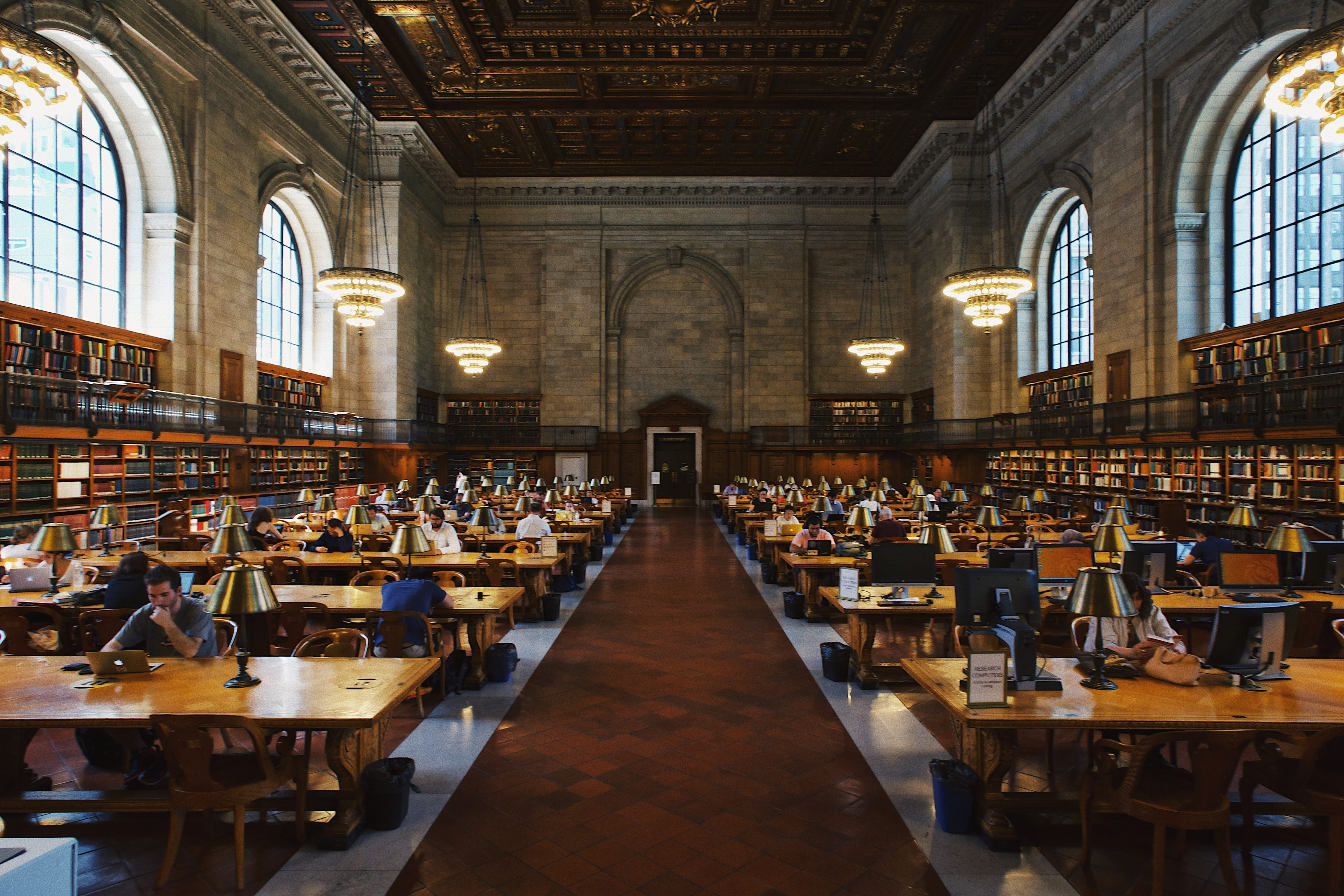 Library reading room; image by Robert Bye, via Unsplash.com.