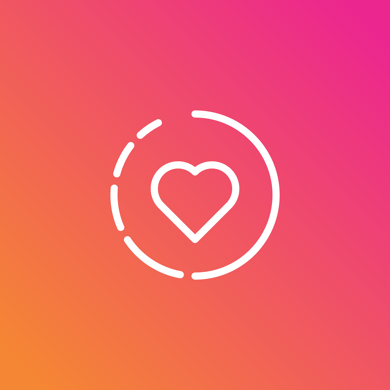 "Graphic showing Instagram ""stories"" icon with heart in the center; graphic by RaphaelSilva, via Pixabay.com."