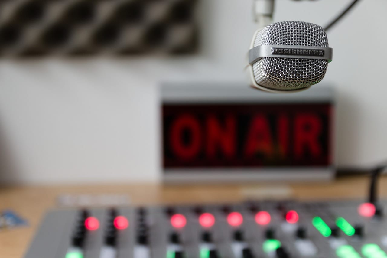 Radio station room