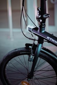 Black and gray bike; image by Cihan Soysakal, via Unsplash.com.