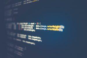 Code on a computer screen; image by Markus Spiske, via Unsplash.com.