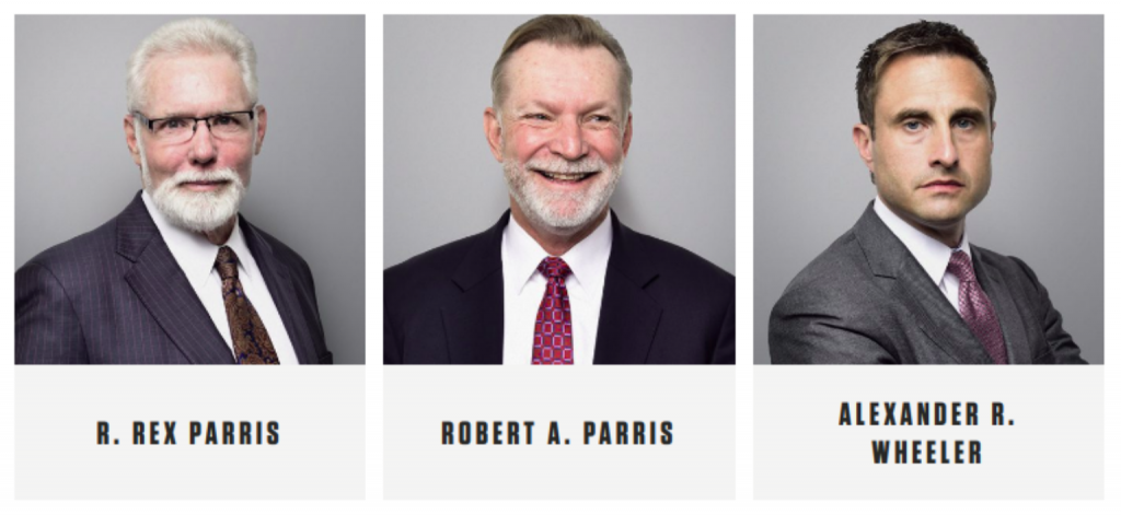 Parris team page; image courtesy of parrislawyers.com.