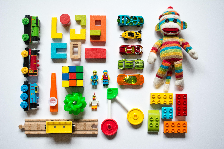 Multicolored learning toys; image by Vanessa Bucceri, via Unsplash.com.