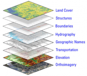 The National Map layers; image by United States Geological Survey, via Wikimedia Commons, Public domain.