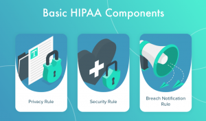 Graphic of basic HIPAA components, courtesy of author.