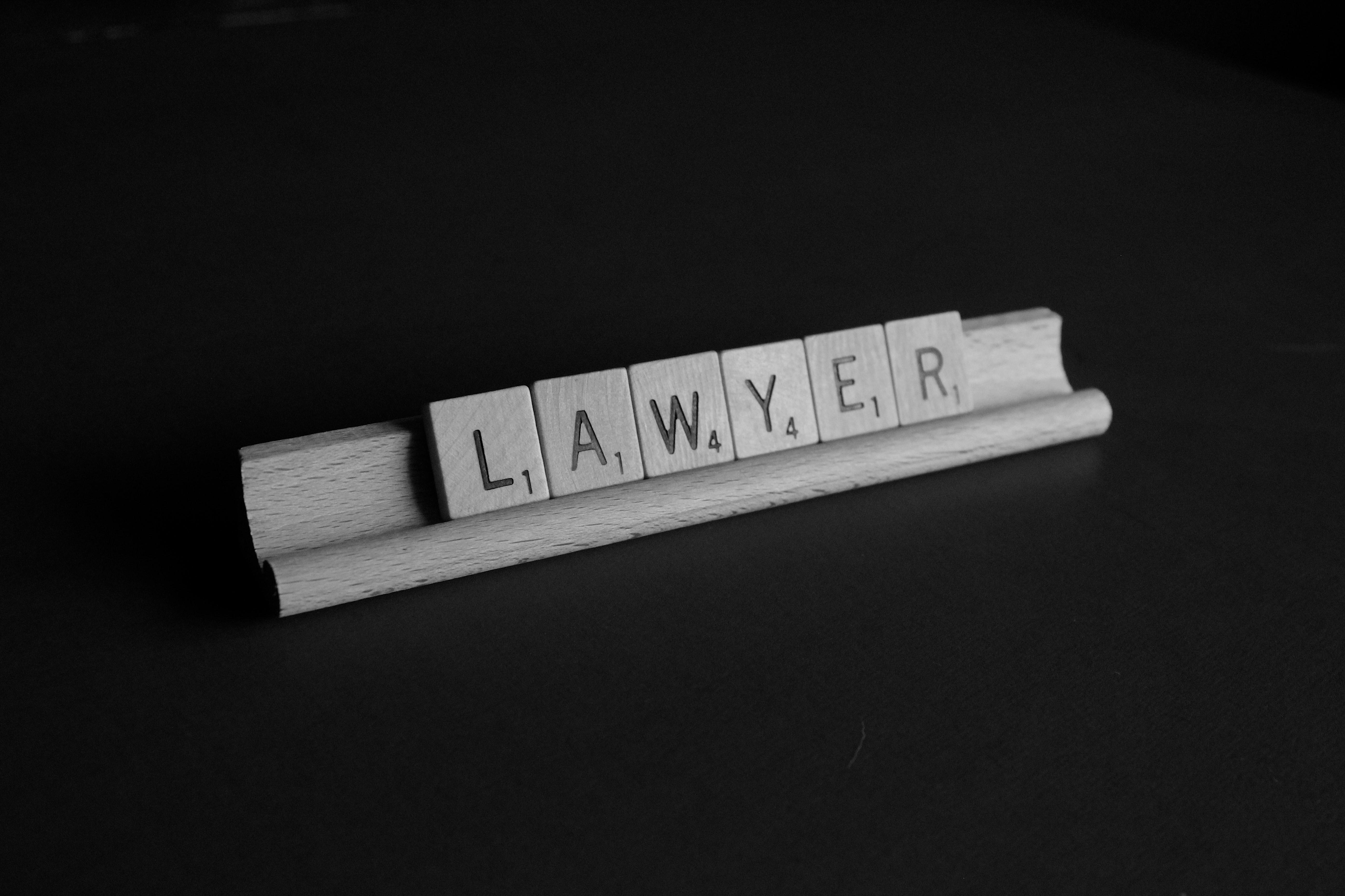 """Tiles spelling """"Lawyer."""" Image by Melinda Gimpel, via Unsplash.com."""