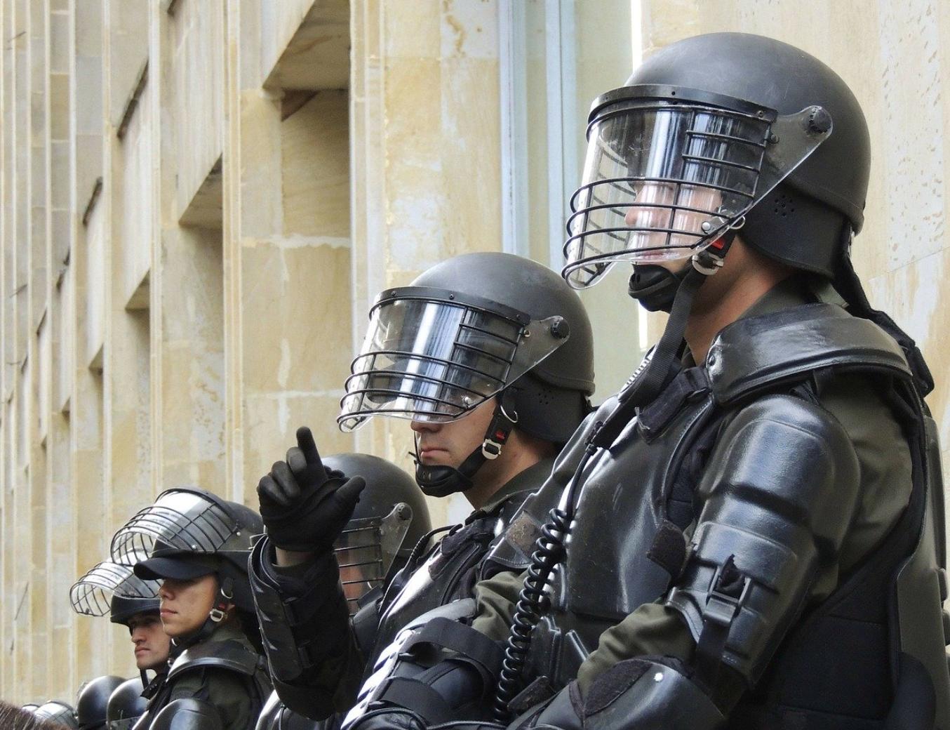 Riot police; image by Parameciorecords, via Pixabay.com.
